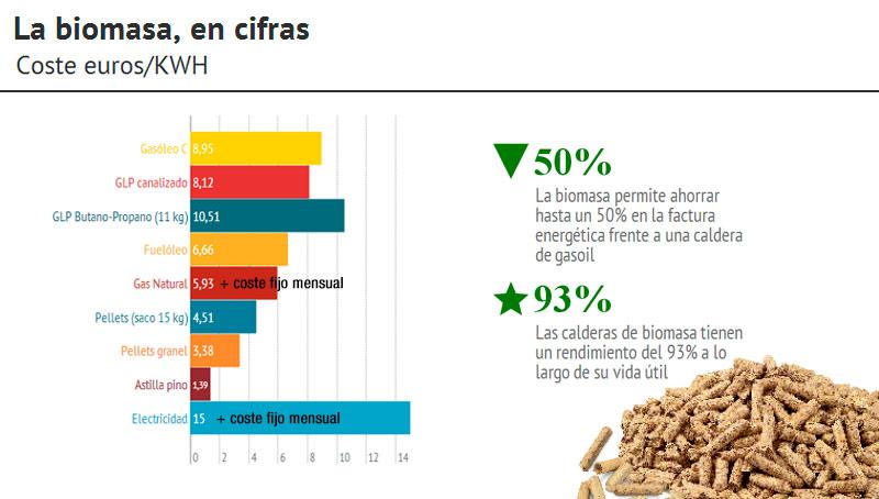Calderas biomasa ahorro