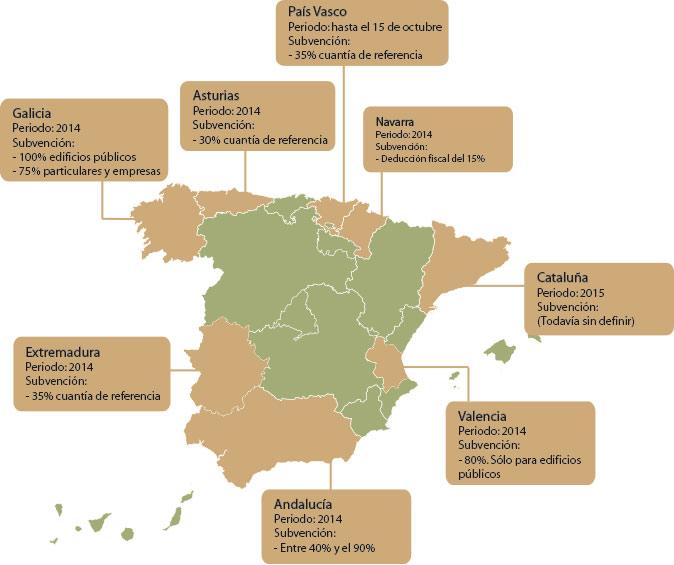 Mapa subvenciones calderas de biomasa