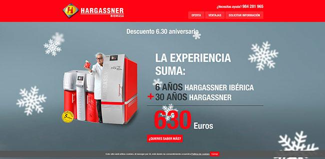 Web promoción descuento Hargassner en calderas de biomasa