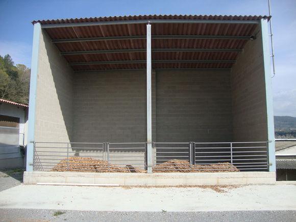 Granja porcina situada en Peñaranda de Duero. Burgos. Calderas de biomasa Hargassner