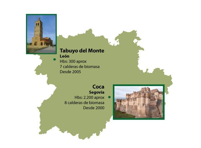 biomasa pueblos España. Coca. Tabuyo del Monte
