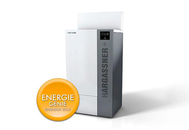 Caldera de biomasa Hargassner. NANO PK. Premio Energie Genie