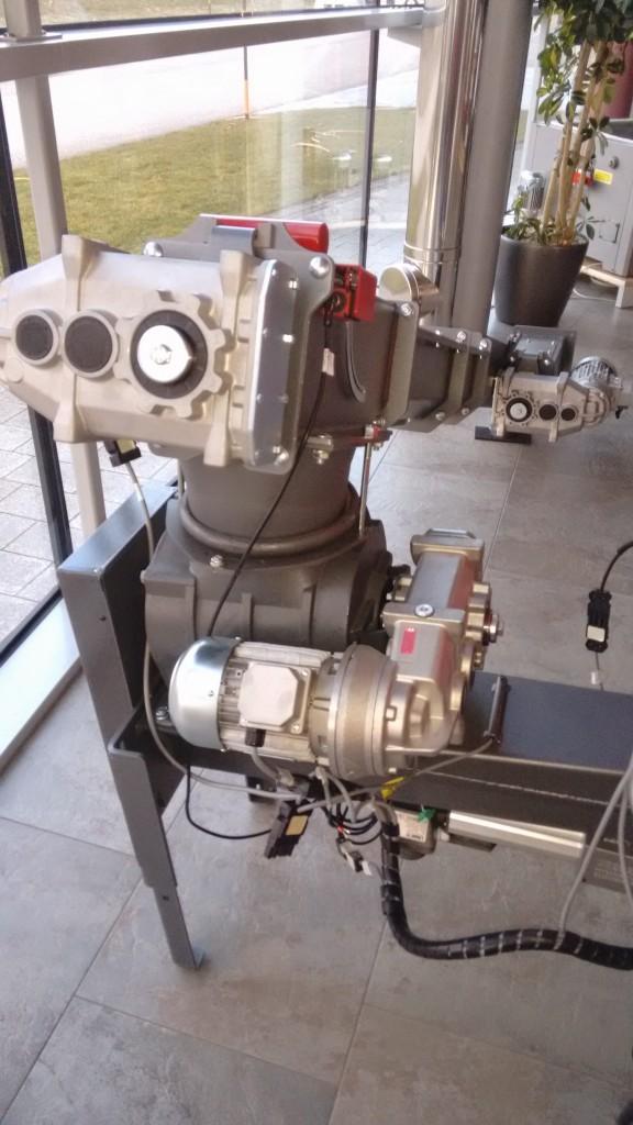 Caldera de pellets Hargassner WTH 150-200 kW Válvula rotatoria